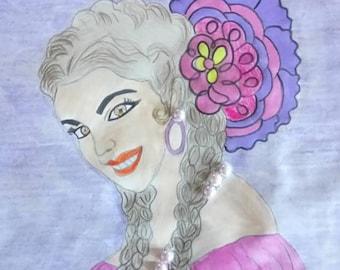 Spanish woman romantic designs