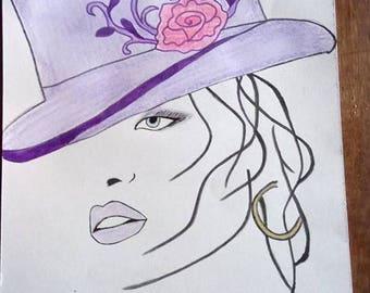 woman in Hat designs