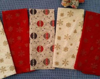 Christmas themed fat quarters