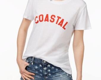Coastal beach ocean ladies t-shirt