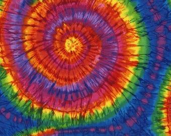 Stretchy Tie Dye Cotton Knit fabric
