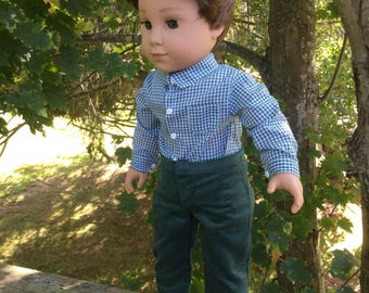 18 inch Boy Doll  Pants and Shirt