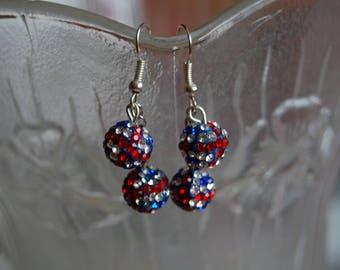union jack shamballa earrings