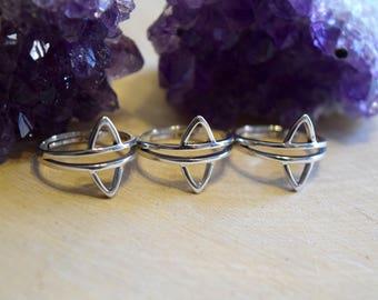 Knuckle Ring / Midi Ring / Knuckle Rings / Midi Rings / Adjustable Boho Rings / Boho Rings / Sterling Silver Rings / Stackable Ring Set