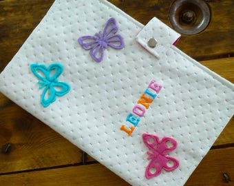 protects leather notebook personalized butterflies