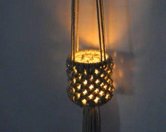Macrame hanging candle Lantern