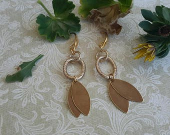 Antique gold patina earrings
