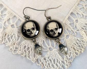 Human Skull Earrings