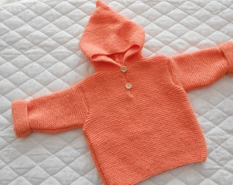 Salmon Hoodie size 6 months