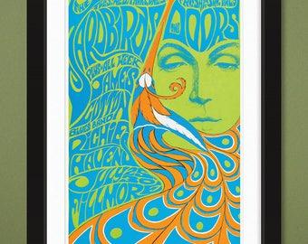 Fillmore Auditorium – Buffalo Springfield Concert Poster 1967 (12x18 Heavyweight Art Print)