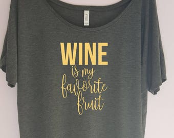 Wine lover shirt, Wine is my favorite shirt. Funny wine shirt. Vino shirt, Wine shirt, Wine gift, Gift for wine lover,Woman's gift, Wine Tee