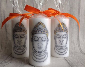 Buddha candle with rhinestones