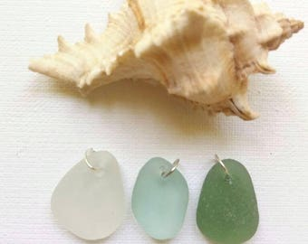 Top Drilled Sea Glass Drilled Sea Glass  Genuine Sea Glass Pendant Beach Glass Pendant Genuine Irish Sea Glass Sea Glass Beach Glass Bulk