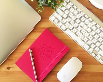 Cesoria Embossed Minimalist Cute Leather Journal