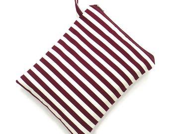 10 % off [ orig. 12.99 ] Stripe Wet bag, swim suit bag, Zigzag Bikini bag, Diaper bag, Bathing suit bag, wet dry bag, Travel bag, Gift