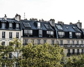 Landscape Paris Rooftops - Paris Photography - Wall Art Print - Paris Decor - Architecture - Fine Art Photography  - Avenue Pigalle - 0089