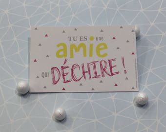 "Mini Card ""A friend who rocks"""