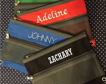 Personalized and Embroidered Pencil Pouch!