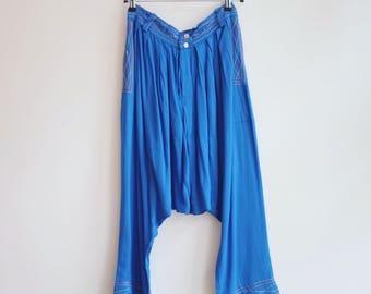 Vintage  alladin hippie goa india boho pants trousers S/M
