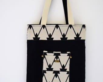 Tote bag - purse - handbag - Reversible tote bag - fabric-Tippy - DIAZON