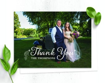 Floral Rustic Thank You Card