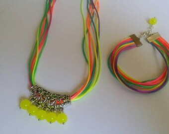 Ornament beads neon Rainbow Opal very fun.