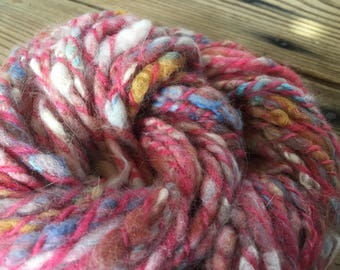 "Handspun Art Yarn ""Cotton Candy"""