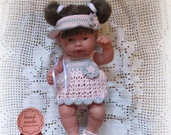 25cm doll dressed in crochet clothing