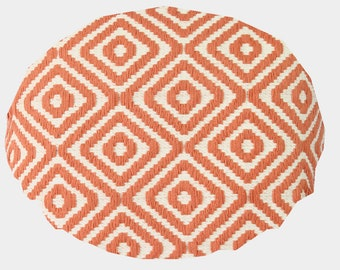 Geometric coral round  pillow cover round pillow sham round pillow cover floor cushions cover kids floor pillow seating round pillow case