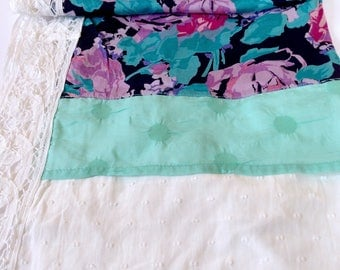 Spring pink shawl