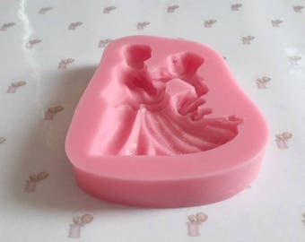 Dancing couple silicone mold
