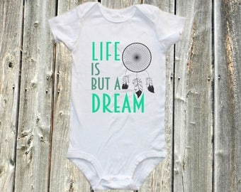 life is but a dream - lullaby baby one-piece bodysuit  baby shirt , lullaby baby onesie