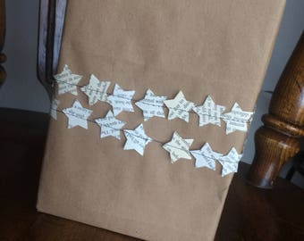 Star Gift Wrap, book paper gift wrap ideas,