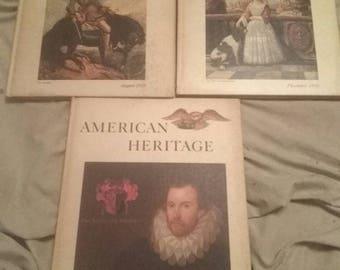 American Heritage Magazines Three Piece Set