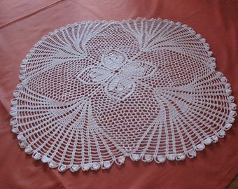 Crochet square 44/44 cm square white DOILY