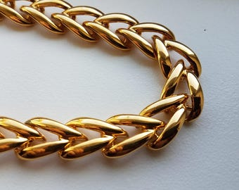 Gold Tone Chunky Necklace by Napier