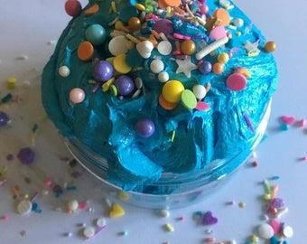 Mermaid birthday foaming shea butter bath butter... 9 oz foaming bath soap.. gift for her