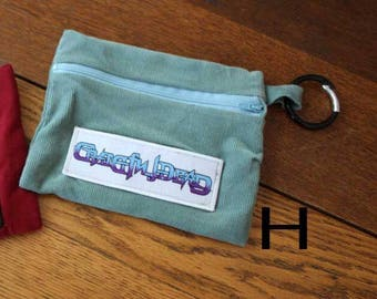 Carabiner Zipper Purse - Grateful Dead Patch, Jerry Garcia Patch