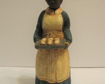 Afro American Resin Figurine