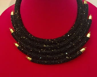 5 strand beaded massia neck piece