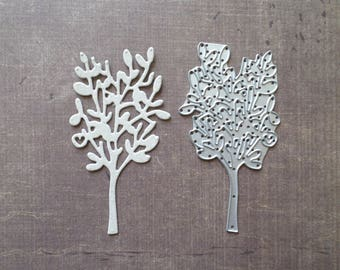 Nature spring Sizzix die heart tree