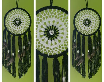 Beautiful handmade crochet dreamcatchers