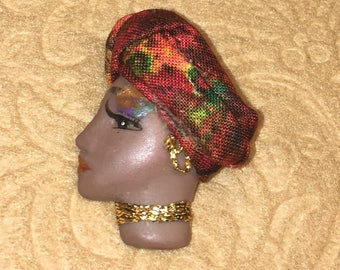 Calypso,Afro-Centric LADY FACE PIN