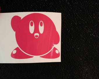 Kirby Old School Decal Any Size Any Colors