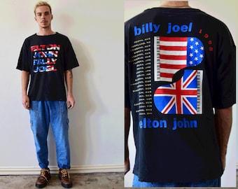 Elton John & Billy Joel 1998 World Tour Graphic Tshirt