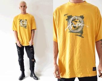 Fubu Classics Bright Logo Crew Neck 90s Tshirt/ VIntage Fubu Jeans Company