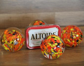 Glass Spherical Paperweights Four
