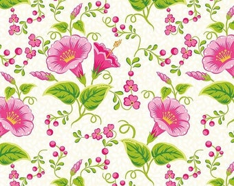 Sale Primavera Main in Ivory Cotton Fabric by Patty Young for Riley Blake