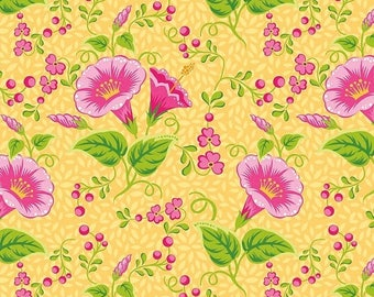 Sale Primavera Main in Tangerine Cotton Fabric by Patty Young for Riley Blake