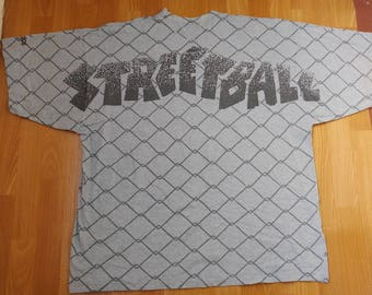 Adidas Streetball Challenge t-shirt, Hoops, 90s vintage hip hop shirt 1990s hip-hop clothing, old school basketball jersey, size XL